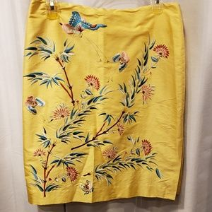 Lovely Embroidered Yellow Skirt by Ralph Lauren